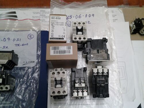 FUJI SC-E02  Contactor, 3-Phase 110/120V Coil [Was installed but never powered]