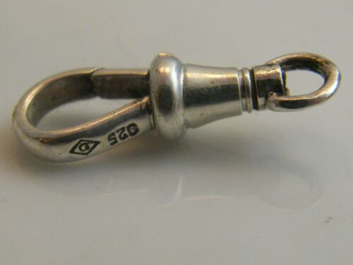 SILVER DOG CLIP FINDING 24MM LONG VINTAGE STYLE SWIVEL TOP