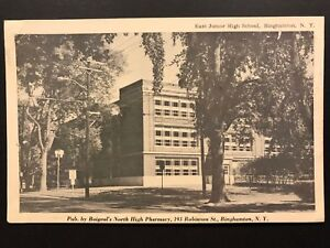 Postcard Binghamton NY - East Junior High School