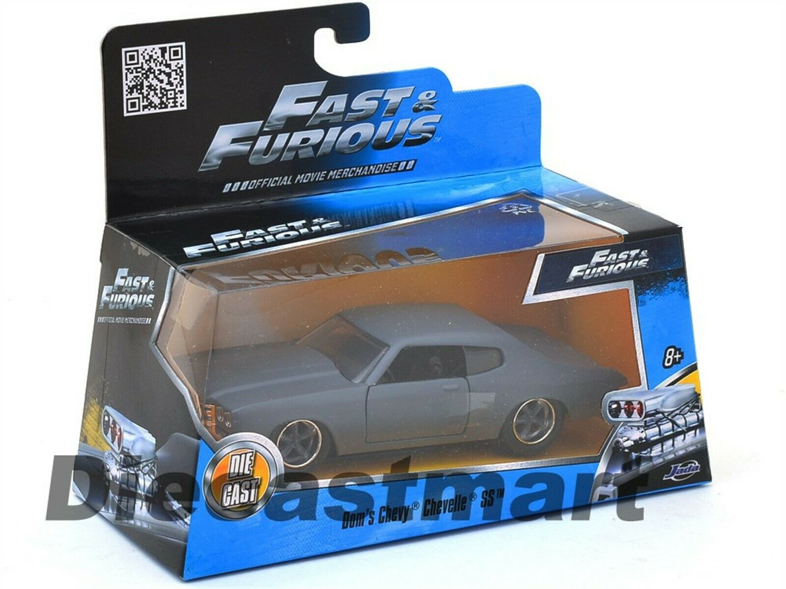 Doms Chevy Chevelle SS Jada 1//32 Scale Diecast Model Car 97379 Fast /& Furious