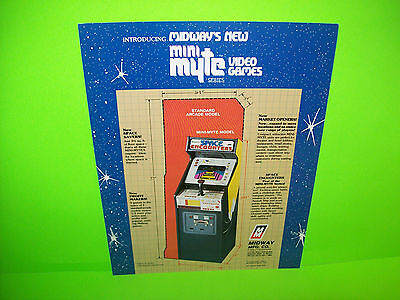 Midway SPACE ENCOUNTERS Mini Myte 1980 Original Video Game Arcade Machine Flyer
