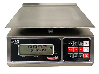 Tor-rey Leq 1020 Portioning Bench Scales 20 Lb X 0.005 Lbs