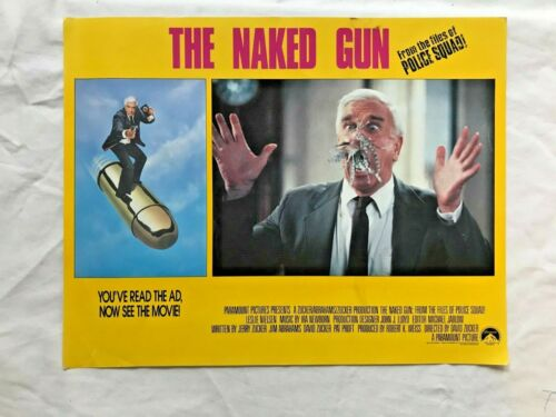 The Naked Gun 1988  Leslie Nielson  original lobby card 11x 14