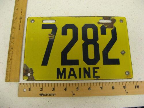 1912 12 MAINE ME License Plate Porcelain # 7282 -
