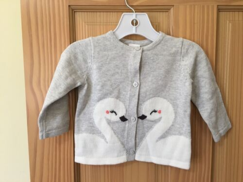 NWT Gymboree Gray Swan Sweater Cardigan Jacket Baby Girl Outlet