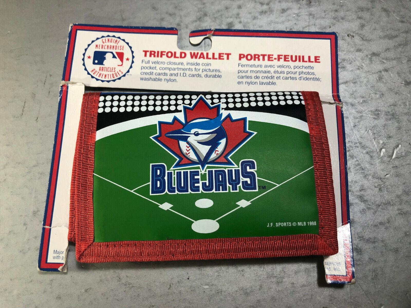 Vtg MLB Toronto Blue Jays Printed Tri-Fold Nylon Wallet J F