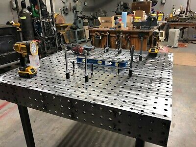 Welding Table Fixturing And Fabrication Table 60x60 With Free Legs And Casters