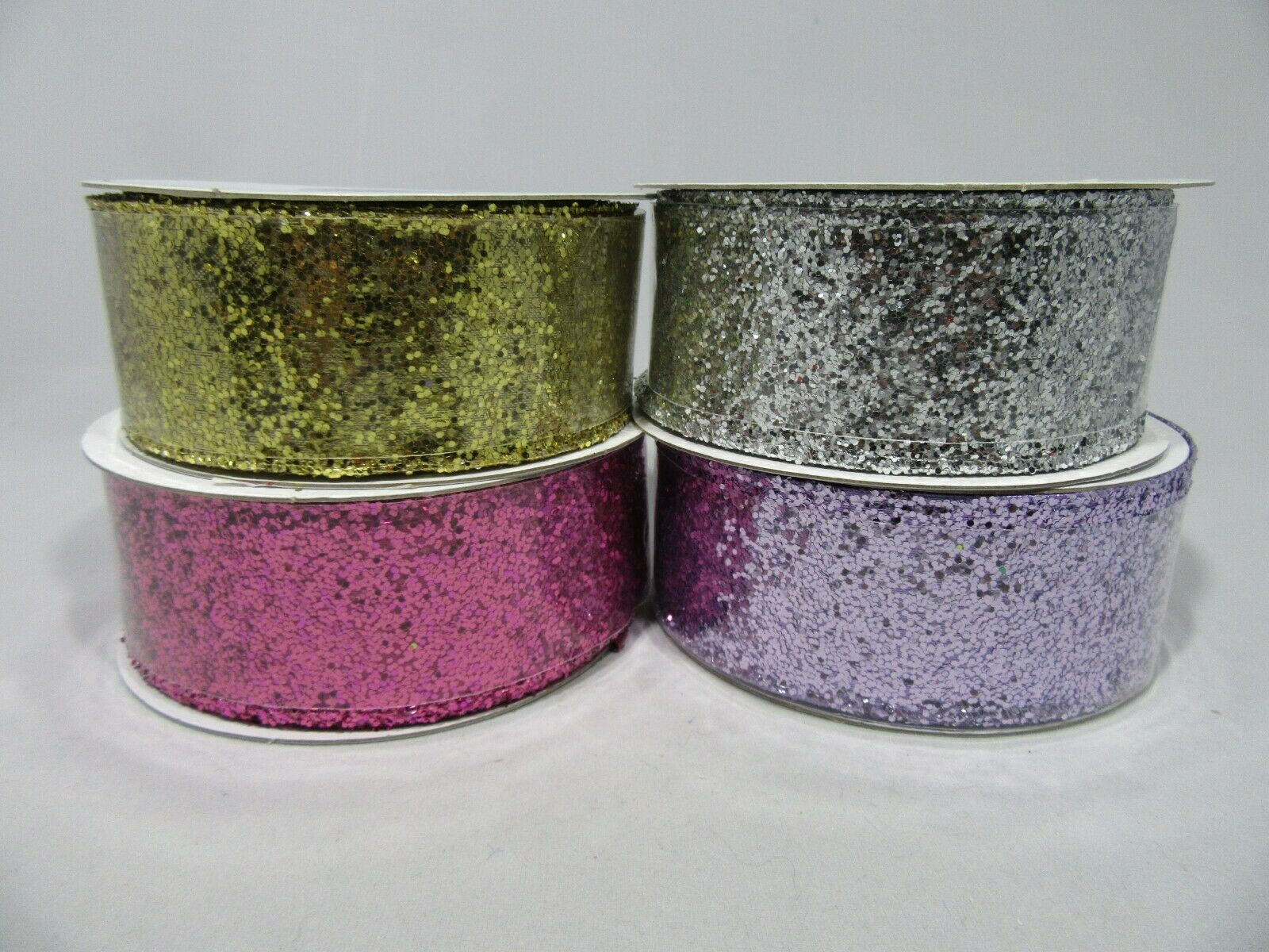 2 metres or Full 10 metre Roll 38mm Wired Glitter Ribbon Sequin
