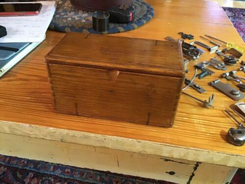 Vintage 1889 Singer Treadle Sewing Machine Puzzle Box case & Accessories