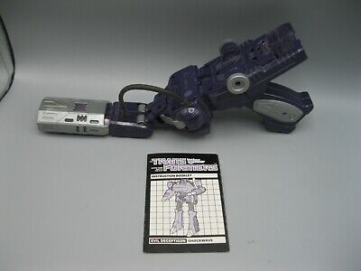 1985 Transformers More Than Meets the Eye G1 Generation 1 Shockwave 100%