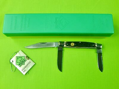 Vintage 1986 German Germany Puma 675 Stock Stag Folding Pocket Knife w/ Box