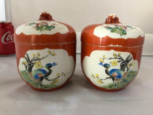 Antique Porcelain Cover Jar 1 pair Hong Xian period #MD006