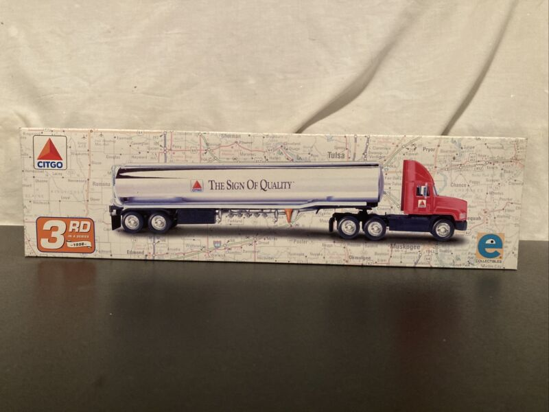 """1998 CITGO DIECAST TANKER TRUCK """"THE SIGN OF QUALITY"""" 3RD SERIES"""