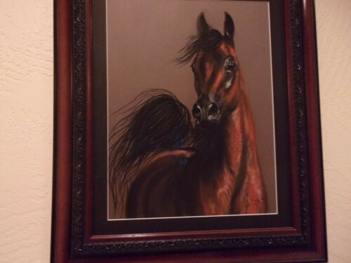 "Reduced!  ""Stunning"" One of a Kind Signed Charcoal Arabian"