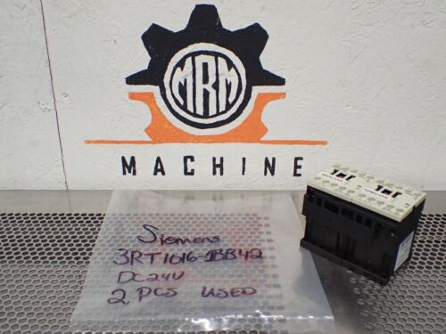 Siemens 3RT1016-1BB42 Contactors DC24V Coils Used With Warranty (Lot of 2)