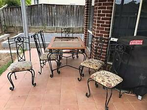 7 piece Cast Iron Table with 6 chairs Beaumont Hills The Hills District Preview
