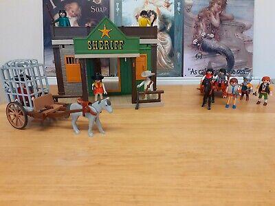 Vintage Playmobil 3786 Sheriffs office Jail - Wild West- highway men robbery
