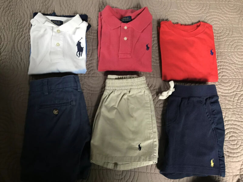 Polo Ralph Lauren Baby Boy Lot Of 3 Sets 6 Pieces Size 2t Shirts And Shorts