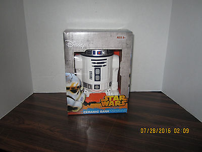 Disney Star Wars R2 D2 Ceramic Coin Bank 8 X 6  Collectible New In Box 2014 8