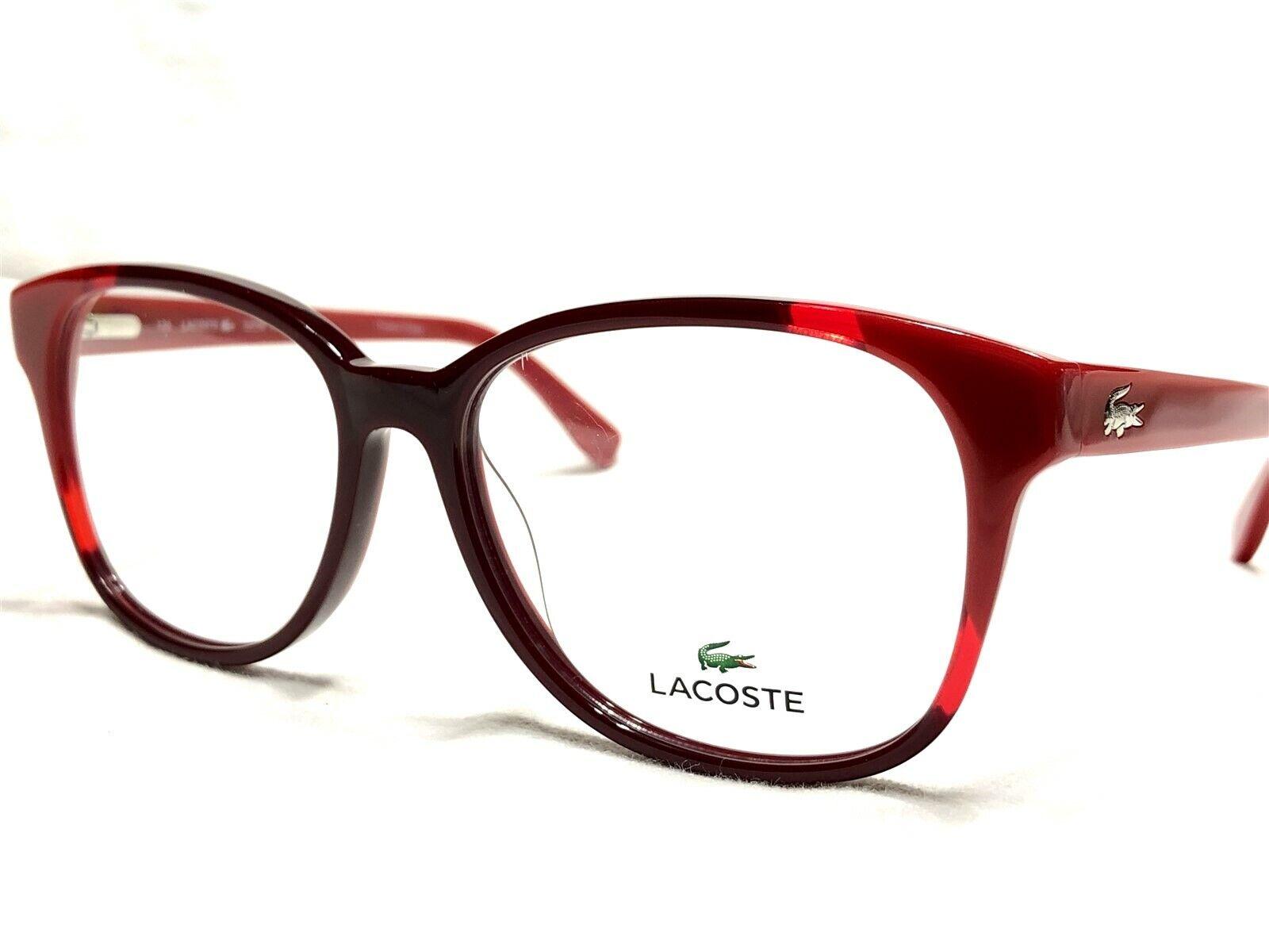 NEW Lacoste L2738 615 Men's Red Bordeaux Modern Rx Eyeglasse