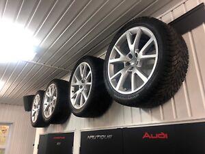 4 pneus Nokian d'hiver avec jantes Audi