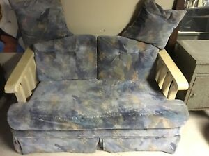 2 Seater Blue love Seat & Chair