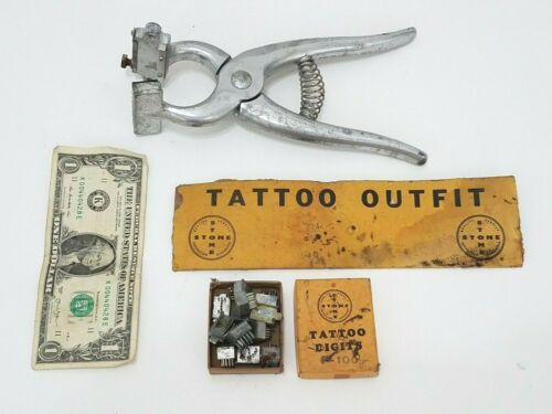 Stone Cattle Livestock Tattoo Outfit Kit - Pliers With Numbers & Letters Digits