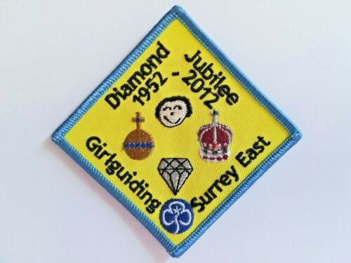 Girl Guide Badge - Surrey East - Diamond Jubilee 1952-2012 - New