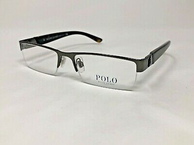 POLO RALPH LAUREN Eyeglasses Frame Italy Polo1117 9187 54-17-140 Gunmetal UI50