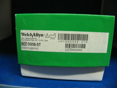 WELCH ALLYN HANDHELD STUDENT BP GAUGE AND ADULT CUFF DS58-ST  2 CUFFS NEVER USED