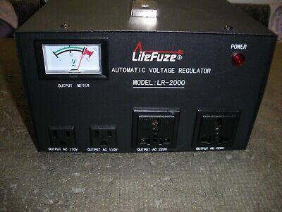Litefuze Automatic Voltage Regulator Lr-2000 220v110v