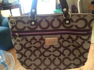 Coach Poppy purse and Betsey Johnson backpack