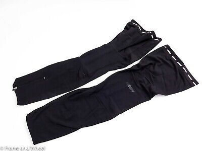 Verge Women/'s Fleece Leg Warmers Medium Black//Grey New Old Stock