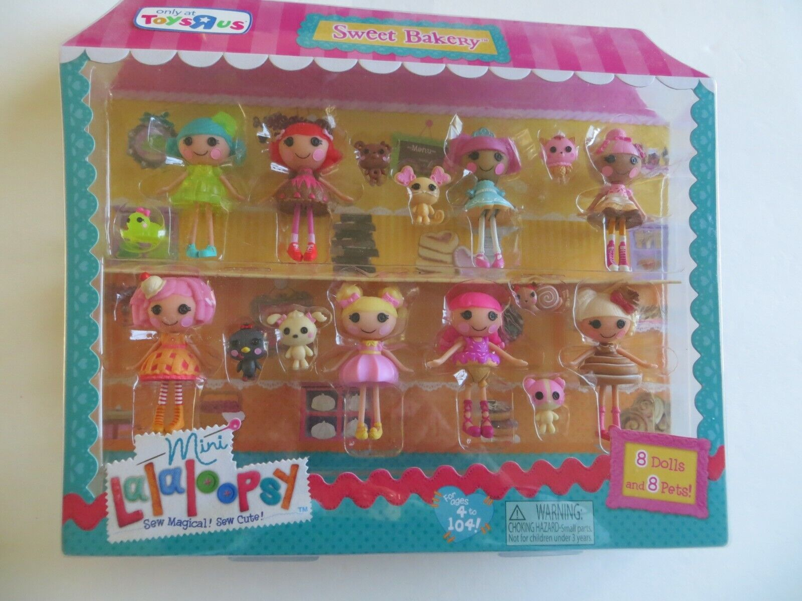 8 Mini Lalaloopsy Dolls Pets Sweet Bakery Toys R Us Exclusive HTF MIP NRFP - $109.99
