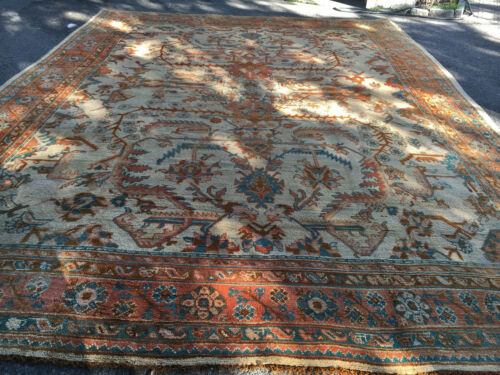 Antique  Beautiful Hand Made  Turkish Oushak Rug14x19ft  Cr 100 Yers