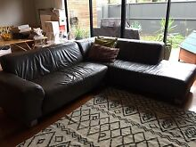 3 Seaters Brown Leather Chaise Lounge for Sell Maribyrnong Maribyrnong Area Preview