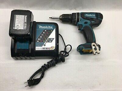 Makita Xph01 18 Volt 12 Cordless Hammer Drill 1 Battery Charger