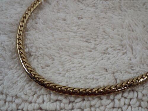 Goldtone Herringbone Chain Necklace (C59)