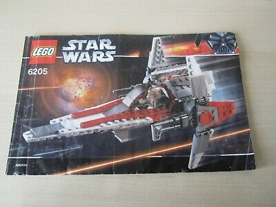 Lego Star Wars 6205 V-Wing Fighter Instructions