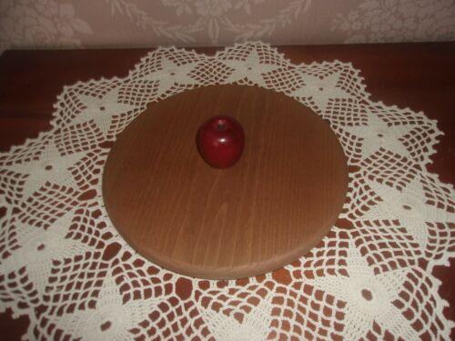 KS Lanam Wooden Lid with Apple Knob fits Longaberger Medium Mixing Bowl