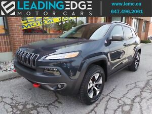 2016 Jeep Cherokee Trailhawk Leather, Remote Start, Panoramic...
