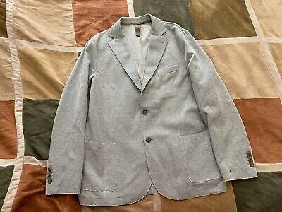$995 Eleventy light grey cotton nylon stretch blazer sport coat 56 46 men NEW