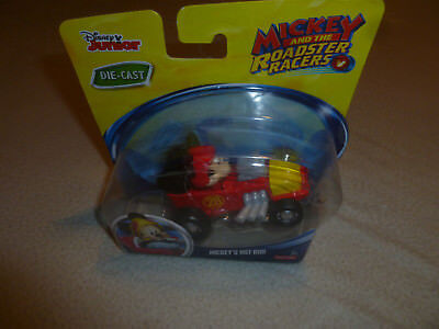 NEW ON CARD DISNEY MICKEY MOUSE HOT ROD ROADSTER RACERS DIE CAST FISHER PRICE >>