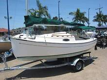 Com-pac 17 Suncat Fibreglass Trailer Sailer Tingalpa Brisbane South East Preview