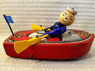 Vintage Fisher Price Racing Rowboat 730 Pull Toy Collectible VERY RARE!!