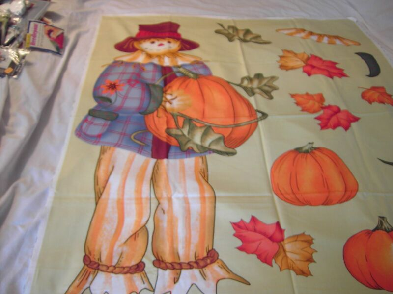 Scarecrow Fast N Easy Sewing Panel by Daisy Kingdom - 38 x 19 with other motifs