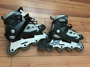 2 pairs of girls' roller blades