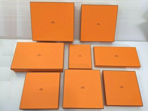 Authentic Hermes Paris Classic Orange Gift Boxes - multiple sizes available
