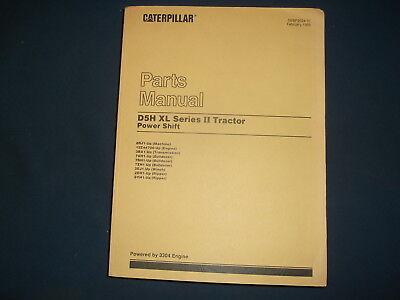 Cat Caterpillar D5h Xl Series Ii Tractor Dozer Parts Manual Book Sn 8rj1-up