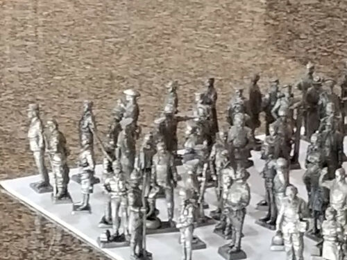 FRANKLIN MINT AMERICAN MILITARY SCULPTURE COLLECTION PEWTER 1977 98 PIECES